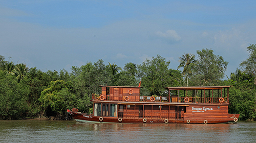 A boat ride in the Mekong delta