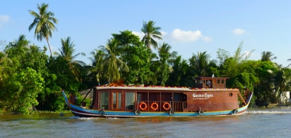 Gecko Eyes – Addition to the exclusive houseboat fleet on the Mekong
