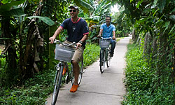 Cruise 'n Bike Mekong Delta River Cruise with bicycle tours